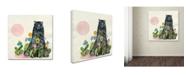 "Trademark Global Wyanne 'Garden Bear' Canvas Art - 24"" x 24"""