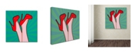 """Trademark Global Mark Ashkenazi 'Woman Legs With A Red Sexy Shoes' Canvas Art - 24"""" x 24"""""""