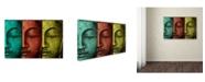 """Trademark Global Mark Ashkenazi 'Buddha Face' Canvas Art - 22"""" x 32"""""""