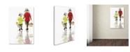 "Trademark Global The Macneil Studio 'Boys With Eggs' Canvas Art - 30"" x 47"""