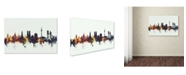 "Trademark Global Michael Tompsett 'Munich Germany Skyline V' Canvas Art - 30"" x 47"""