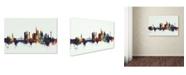 "Trademark Global Michael Tompsett 'Frankfurt Germany Skyline V' Canvas Art - 30"" x 47"""