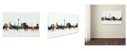 "Trademark Global Michael Tompsett 'Dusseldorf Germany Skyline II' Canvas Art - 22"" x 32"""