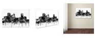"Trademark Global Marlene Watson 'Montgomery Alabama Skyline BW' Canvas Art - 22"" x 32"""