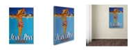 """Trademark Global Vintage Apple Collection 'Antibes' Canvas Art - 30"""" x 47"""""""