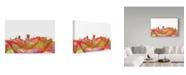 "Trademark Global Marlene Watson 'Portland Oregon Skyline Swirl' Canvas Art - 30"" x 47"""