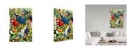 "Trademark Global Howard Robinson 'Tropical Colorful Birds' Canvas Art - 30"" x 47"""
