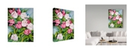 "Trademark Global Joanne Porter 'Light Pink And Dark Tulips' Canvas Art - 35"" x 47"""