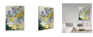 "Trademark Global Joanne Porter 'Iris Daisies And Daffodils' Canvas Art - 35"" x 47"""