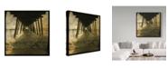 "Trademark Global John W. Golden 'Pier Break' Canvas Art - 35"" x 35"""