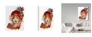 "Trademark Global Sheena Pike Art And Illustration 'Autumn Anna' Canvas Art - 35"" x 47"""
