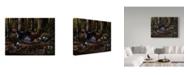 """Trademark Global Wilhelm Goebel 'Hillside Gobbler' Canvas Art - 24"""" x 32"""""""