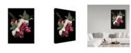 "Trademark Global Susan S. Barmon 'White Amaryllis And Tulips' Canvas Art - 35"" x 47"""