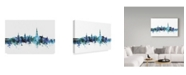 "Trademark Global Michael Tompsett 'Bern Switzerland Blue Teal Skyline' Canvas Art - 47"" x 30"""