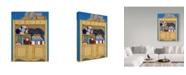 "Trademark Global Jan Panico 'Burger In A Favorite Spot' Canvas Art - 35"" x 47"""