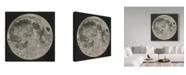"""Trademark Global John Russell 'Lunar Cartography, 1805-06' Canvas Art - 35"""" x 35"""""""