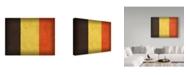 "Trademark Global Red Atlas Designs 'Belgium Distressed Flag' Canvas Art - 47"" x 35"""