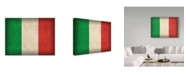 "Trademark Global Red Atlas Designs 'Italy Distressed Flag' Canvas Art - 24"" x 18"""
