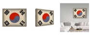 "Trademark Global Red Atlas Designs 'South Korea Distressed Flag' Canvas Art - 24"" x 18"""