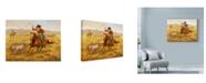 "Trademark Global Lee Dubin 'Ranching Sheep' Canvas Art - 32"" x 24"""