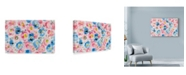 "Trademark Global Li Bo 'Festive Flower Patterns 4' Canvas Art - 32"" x 22"""