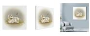 "Trademark Global Peggy Harris 'Baby Unicorn' Canvas Art - 24"" x 24"""