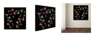 """Trademark Global Kathie McCurdy 'Pressed Flowers Morning Glories' Canvas Art - 24"""" x 24"""""""