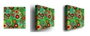 "Trademark Global Raindrops on Green' Canvas Art - 24"" x 24"""