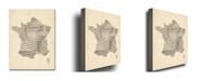 "Trademark Global Michael Tompsett 'France - Music Map' Canvas Art - 24"" x 18"""