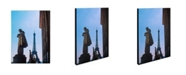 "Trademark Global Kathy Yates 'View of Eiffel from Trocadero' Canvas Art - 24"" x 16"""