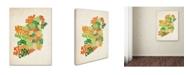 "Trademark Global Michael Tompsett 'Ireland Text Map' Canvas Art - 32"" x 22"""