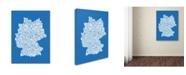 "Trademark Global Michael Tompsett 'SUMMER-Germany Regions Map' Canvas Art - 47"" x 30"""