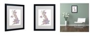 "Trademark Global Michael Tompsett 'United Kingdom IV' Matted Framed Art - 20"" x 16"""