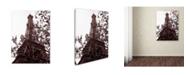 "Trademark Global Kathy Yates 'Eiffel With Tree' Canvas Art - 47"" x 30"""