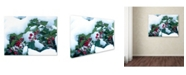 "Trademark Global Kurt Shaffer 'Holly in the Snow' Canvas Art - 32"" x 24"""