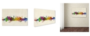 "Trademark Global Michael Tompsett 'Glasgow Scotland Skyline' Canvas Art - 32"" x 22"""