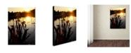 """Trademark Global Monica Fleet 'Reflective Strength' Canvas Art - 32"""" x 24"""""""