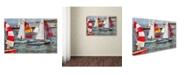 """Trademark Global Michelle Calkins 'After the Regatta' Canvas Art - 47"""" x 30"""""""