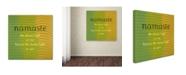 "Trademark Global Michelle Calkins 'Namaste' Canvas Art - 24"" x 24"""