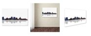 """Trademark Global Marlene Watson 'Buffalo New York Skyline' Canvas Art - 30"""" x 47"""""""