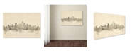 "Trademark Global Michael Tompsett 'Seattle Washington Skyline Sheet Music' Canvas Art - 30"" x 47"""