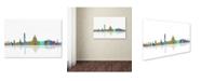 """Trademark Global Marlene Watson 'Washington DC Skyline IV' Canvas Art - 22"""" x 32"""""""