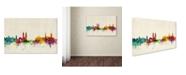 """Trademark Global Michael Tompsett 'Zurich Switzerland Skyline' Canvas Art - 22"""" x 32"""""""
