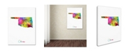 "Trademark Global Michael Tompsett 'Oklahoma Map' Canvas Art - 24"" x 32"""