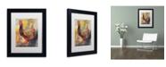 """Trademark Global Richard Wallich 'Art Rooster 1' Matted Framed Art - 11"""" x 14"""""""