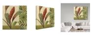 "Trademark Global Lisa Audit 'Flowers of Paradise 1 Green' Canvas Art - 14"" x 14"""