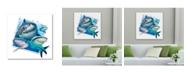"""Trademark Global Howard Robinson 'Happy Sharks' Metal Art - 16"""" x 16"""""""