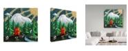 "Trademark Global Jake Hose 'Love Under The Mountain' Canvas Art - 14"" x 14"""