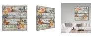 """Trademark Global Jean Plout 'Country Garden Butterflies' Canvas Art - 14"""" x 14"""""""