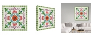 "Trademark Global Jean Plout 'Mandala Tile' Canvas Art - 14"" x 14"""